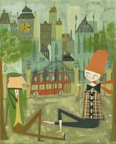 London. Limited edition 13x19 print by Matte Stephens. I love his art!