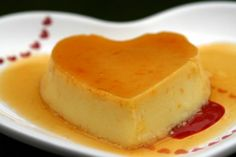 Similar to a coconut- flavored custard with orange caramel ( Flan de Coco )