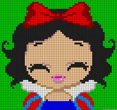 Princess Snow White perler bead pattern