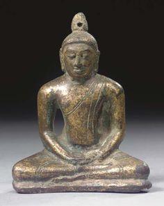 A Sri Lanka, Anuraddhapura style,        gilt bronze figure of Buddha Sakyamuni.         9th/10th century  Sold at Christies for  €8,365.