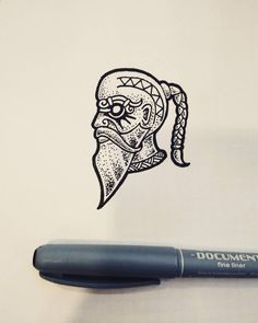 """""""The old boat builder"""" What do you think about new episodes of Vikings? #drawing #sketch #illustration #linework #dotwork #blackandwhite #black #ink #norse #viking #pagan #medieval #history #fantasy #head #boat #floki #thevikings #god #tattoo #design..."""