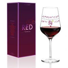 [nqt] Ritzenhoff 3000011 Stockebrand - Calice per Vino Rosso Design Wine Glasses Online, Fun Wine Glasses, Wine Drinks, Alcoholic Drinks, Wine Glass Designs, Wine Country Gift Baskets, Glas Art, Wine Auctions, Buy Wine Online