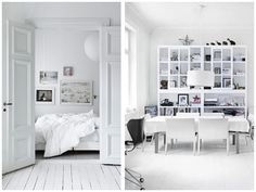 shelves and floors - doors - white french/nordic style
