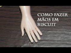 Como fazer maos em biscuit, mãos de noivinhos tutorial Viviana Biscuit