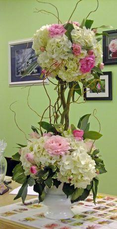 Topiary - love the hydrangeas