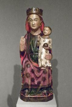 Virgen gótica. Marededéu, siglo XIV, Catalunya. Museo episcopal de Vic.
