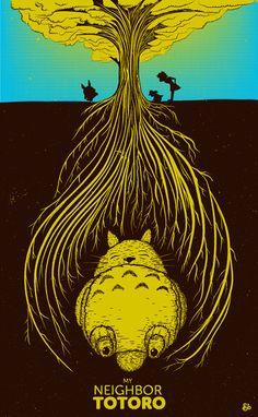Studio Ghibli illustrated by Jack Bloom