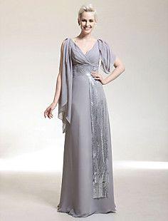 PORTSMOUTH - Vestido de Noche de Gasa y Satén elástico – USD $ 98.99
