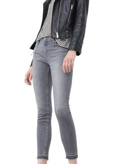 Jean slim cropped Gris by MANGO 39.99