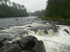 Fish River Falls, great spot in Fort Kent Maine to collect your thoughts, have a picnic, or enjoy a scenic hike.