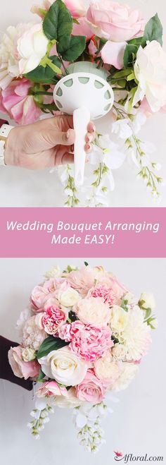Wedding Bouquet Arranging Made Easy with Bouquet Holders!