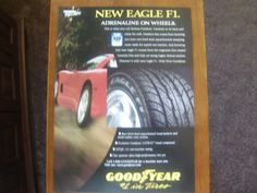 goodyear eagle f1 vintage  magazine ad