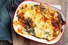 Chicken, silverbeet and feta lasagne