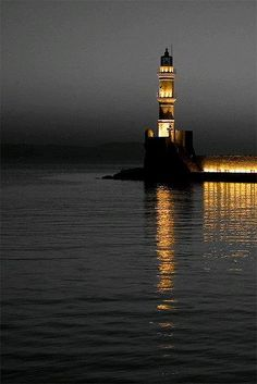 """Lighthouse At Dusk """"  …  Photographer:  Stavros Markopoulos"""