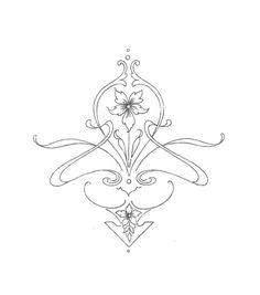 Art Deco Art Nouveau Iron on Embroidery Transfer repo 6 Geometric designs Art Nouveau Tattoo, Tatuagem Art Nouveau, Tattoo Art, Motifs Art Nouveau, Design Art Nouveau, Motif Art Deco, Art Nouveau Pattern, Tribal Tattoos, Tattoos Skull