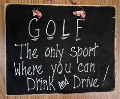 Wood sign golf and beer drinking drink and drive funny by kpdreams, $9.50