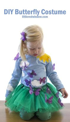 garden costume This adorable DIY Butterfly Costume is sure to be a hit this Halloween! You can make your own butterfly garden costume with just a few supplies! Halloween Costumes Pictures, Handmade Halloween Costumes, Halloween Crafts, Halloween Party, Halloween Celebration, Halloween Ideas, Green Tulle Skirt, Green Tutu, Diy Butterfly Costume