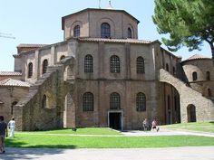San Vitale, Ravenna, Italy Roman Architecture, Religious Architecture, Early Christian, Christian Church, Ravenna Italy, Romanesque, Capital City, Roman Empire, Study Abroad