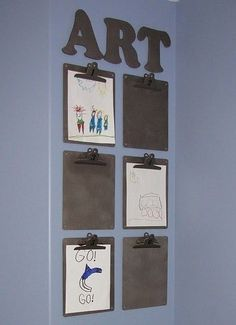 rotating art display - great for classroom, kid's room, craft room, etc Classroom Organization, Classroom Decor, Organization Ideas, Organizing School, Classroom Teacher, Organizing Tips, Organising, Classroom Management, Art For Kids