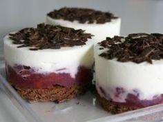 Sahnekirsch-Törtchen.  #Minikuchen #herstellung #rezept