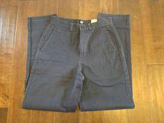 Dockers Women Blue Flat Front Khakis Pants Size 8 Medium #DOCKERS #KhakisChinos