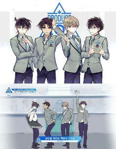 If the boys were on produce 101 Detektif Conan, Conan Comics, Magic Kaito, Film Anime, Manga Anime, Cute Anime Boy, Anime Guys, Detective Conan Shinichi, Kaito Kuroba