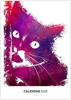 Cats #cat #cats #kitty #calendar #calendar2018