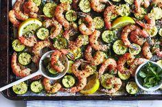 Sheet Pan dinner recipe: Garlic Shrimp with Zucchini