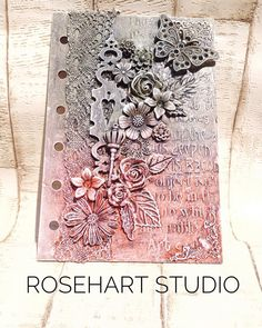 """Anna Emelia Howlett - Artist on Instagram: """"A #Journal cover sample I created at the #nec hobbyshow recently when I was demoing for #powertexuk think it has to be a favourite so far.…"""""""