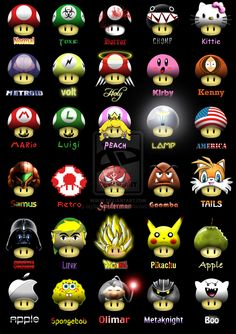 Super Mario Shrooms by MyBurningEyes.deviantart.com