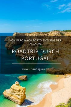 By car across Portugal! From Faro to Porto on the most beautiful roads in Portugal. Come on a journey through the most diverse country in southern Europe. Discover beautiful beaches, conquer the waves and get lost in Sintra's mystical world of ca Sintra Portugal, Surf Portugal, Portugal Travel, Beautiful Roads, Beautiful Beaches, World Of Castles, Places To Travel, Places To See, Travel Around The World