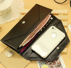 Handmade Retro Style women leather wallet purse by FashionZone2013