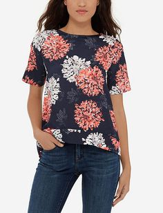 Printed Short Sleeve Top from TheLimited.com