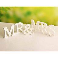 """bryllup dekor """"mr&mrs """"frittstående tre tre e... – NOK kr. 44"""