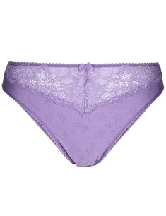 PURPLE LACEY FLOWERS 6 10 12 14 RISE WOMANS PANTS KNICKERS BOUX AVENUE QUALITY
