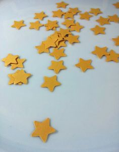500 Mini Star  Hand Punched Die Cut Confetti  by Paperfectionary, $14.80
