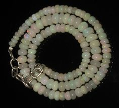 """50 Crts 1 Necklace 4 to 6 mm 14"""" Beads Natural Ethiopian Welo Fire Opal 56960"""