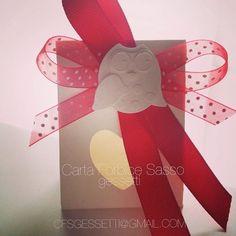 Scatolina portaconfetti, con finestrella a cuoricino. E un gufetto profumato in gesso...   https://www.facebook.com/gessetti  Box holder , with a window heart . And an owl :)