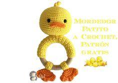 MADRES HIPERACTIVAS: manualidades y DIY con y para niños: Mordedor Patito a Crochet, Vídeotutorial