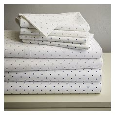 West Elm Polka Dot Sheet Set, Twin/Twin XL/Twin/Twin XL XL, Feather... (£43) ❤ liked on Polyvore featuring home, bed & bath, bedding, bed sheets, blue, twin extra long fitted sheets, extra long twin sheet sets, twin xl sheet sets, extra long twin bedding and twin bed sheet sets