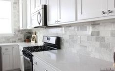 diy marble backsplash in the kitchen, diy, kitchen backsplash, kitchen design, tiling