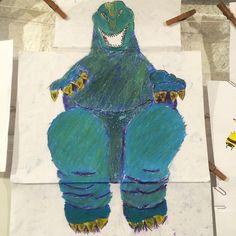 Godzilla do Lucas 11 anos (Lucas,  11yo) #cursododaltoncrianças