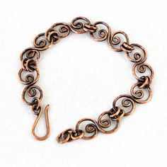 Handcrafted Jewelry Hammered Copper Bracelet by KariLuJewelry, $58.50