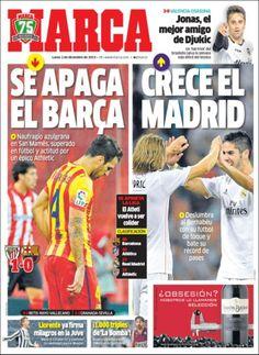 Los Titulares y Portadas de Noticias Destacadas Españolas del 2 de Diciembre de 2013 del Diario Marca ¿Que le pareció esta Portada de este Diario Español?