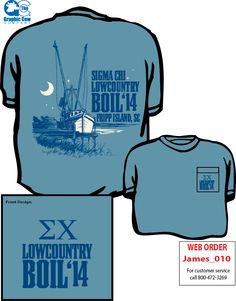 New Sigma Chi Lowcountry Boil Shirt Design by James