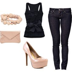 Love how feminine it is! Outfit, created by studgey.polyvore.com