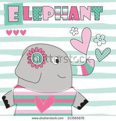 elephant love vector illustration - stock vector