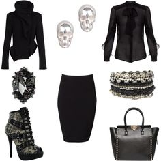"""Corporate Goth"" by jennifer-jordan-eastwood on Polyvore"