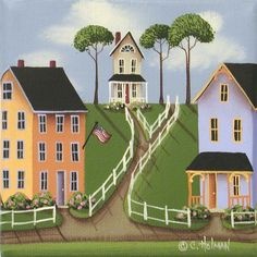 Country Folk Art Prints | ... by Catherine Holman - Willowick Fine Art Prints and Posters for Sale