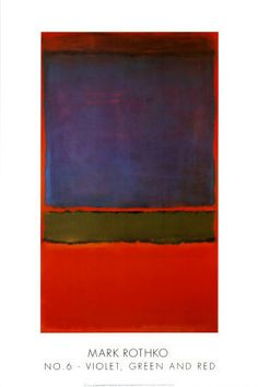 No. 6 (Violet, Green and Red), 1951.... By Mark Rothko... he is absolutely my most favorite artist in the world... I would probably pass out seeing one of his works in person! =)